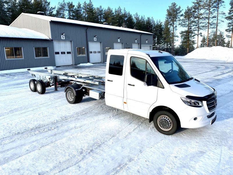 Mercedes Sprinter med Freno Air -Citytrailer 3500 kg
