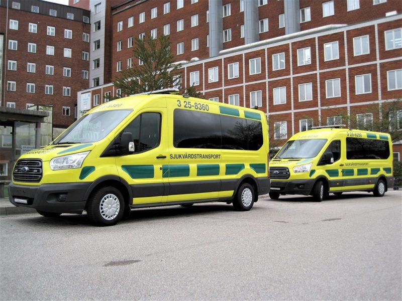 Ford sjuktransportbilar med Freno AWK-system